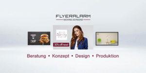 FLYERALARM Moving Screens Produktion