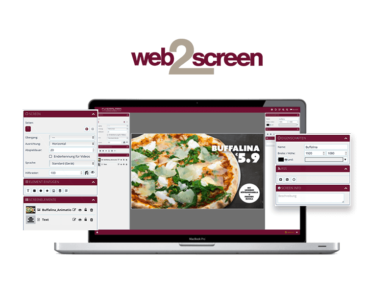 web2screen Software Info