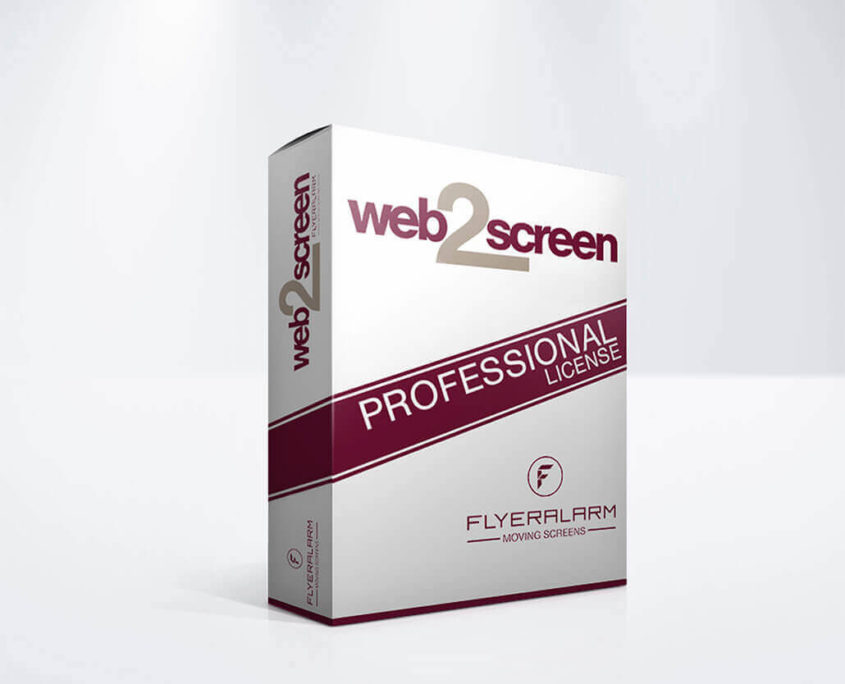 web2screen Professional Lizenz